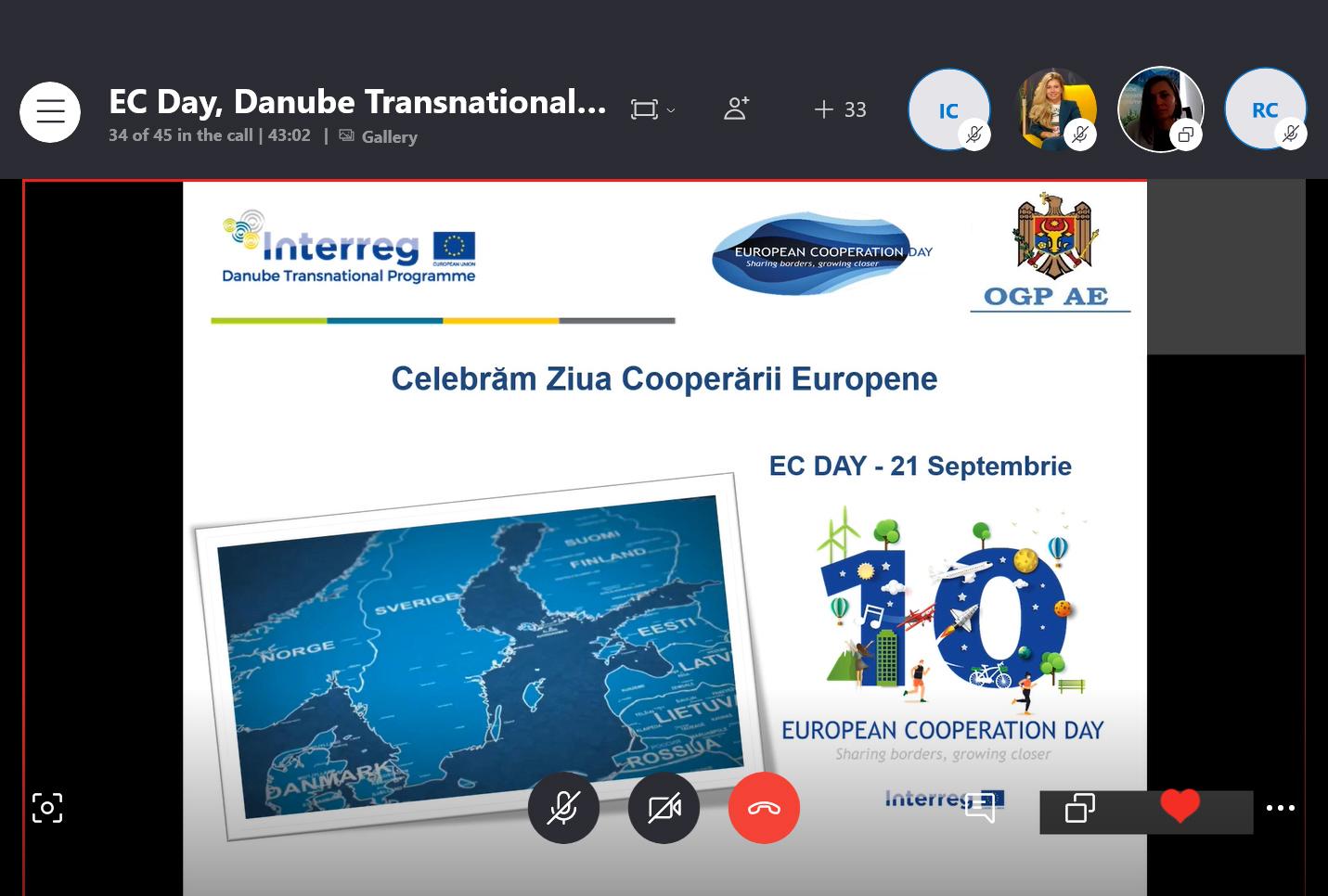 Comunicat de presa: Ziua Cooperării Europene, marcată la Chișinău de beneficiarii și partenerii Programului Transnațional Dunărea 2014–2020